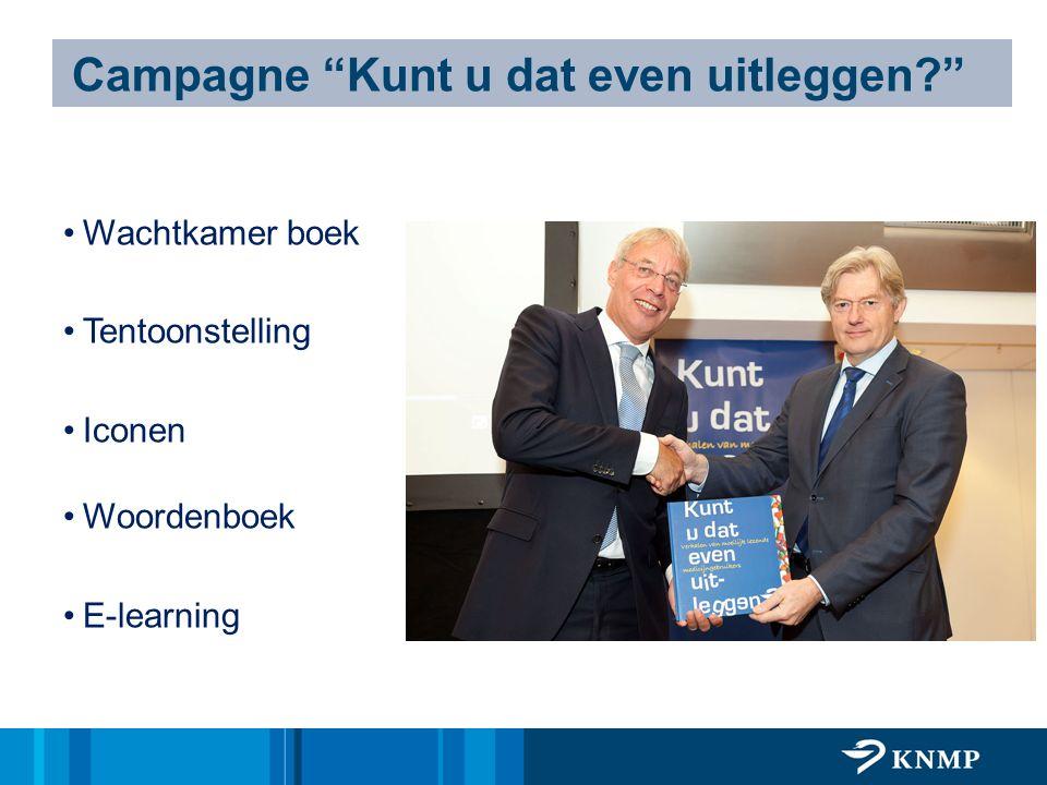 """Wachtkamer boek Tentoonstelling Iconen Woordenboek E-learning Campagne """"Kunt u dat even uitleggen?"""""""