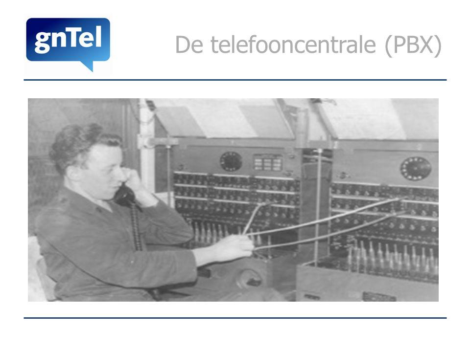 De telefooncentrale (PBX)