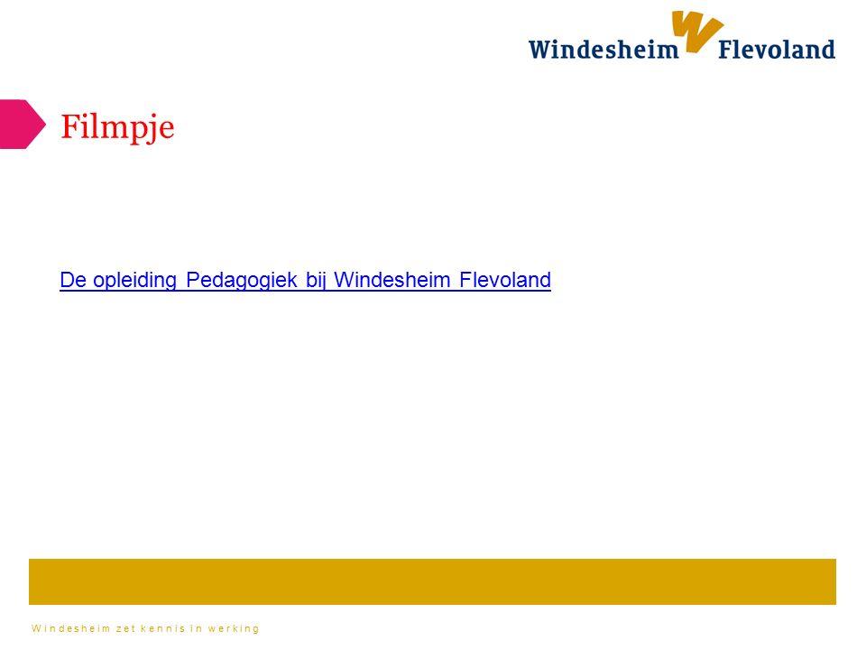Windesheim zet kennis in werking Filmpje De opleiding Pedagogiek bij Windesheim Flevoland