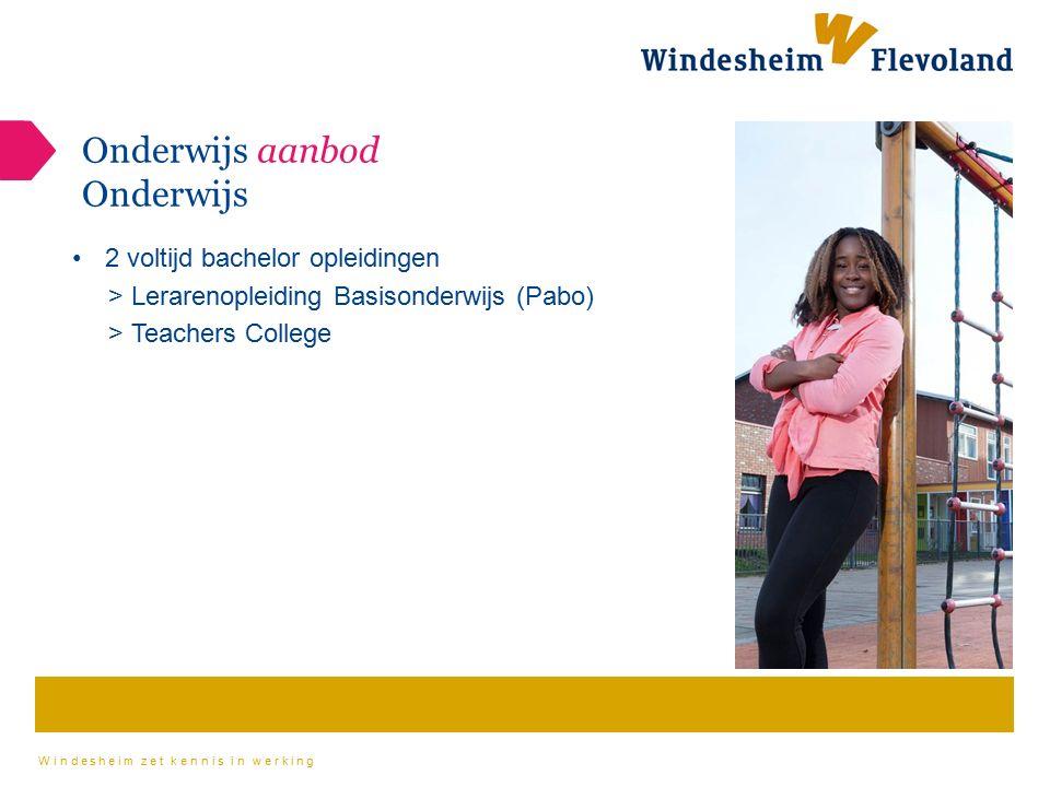 Windesheim zet kennis in werking Onderwijs aanbod Onderwijs 2 voltijd bachelor opleidingen > Lerarenopleiding Basisonderwijs (Pabo) > Teachers College