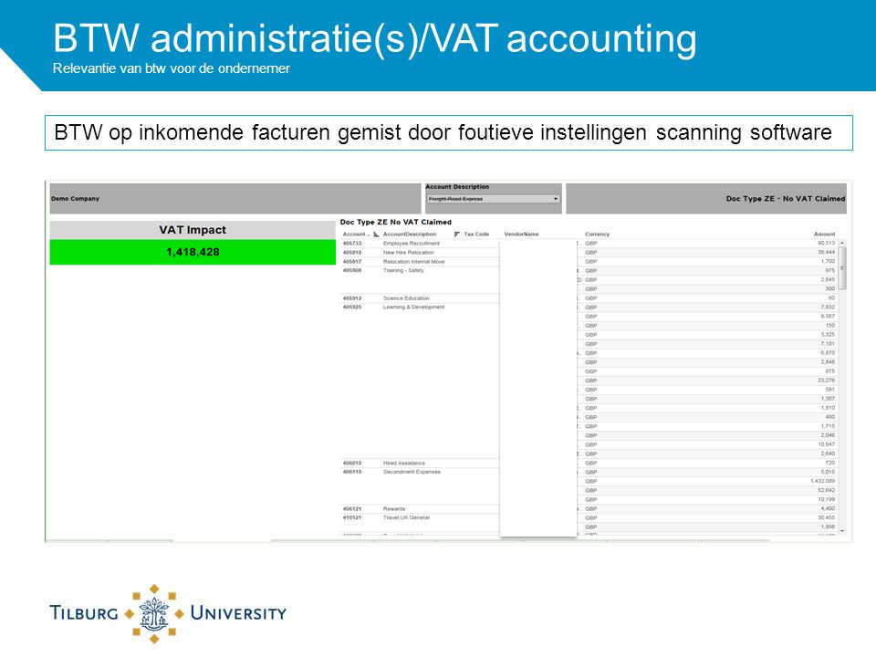 BTW op inkomende facturen gemist door foutieve instellingen scanning software