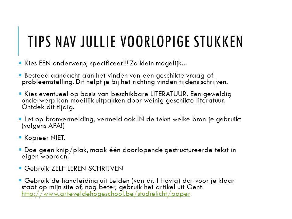 TOENEMENDE KRITIEK OP DEZE VORMEN VAN LEREN Marcel de Jong (2011): Geen les meer http://www.nationaleboekenblog.nl/interviews/dinosaurusdocent-uitgerangeerd-in-denkbeeldig- roc/ Ad Verbrugge van BON = Beter Onderwijs Nederland (2011): De Onderwijsbubbel http://www.youtube.com/watch?v=Ns5tRDfMFwU