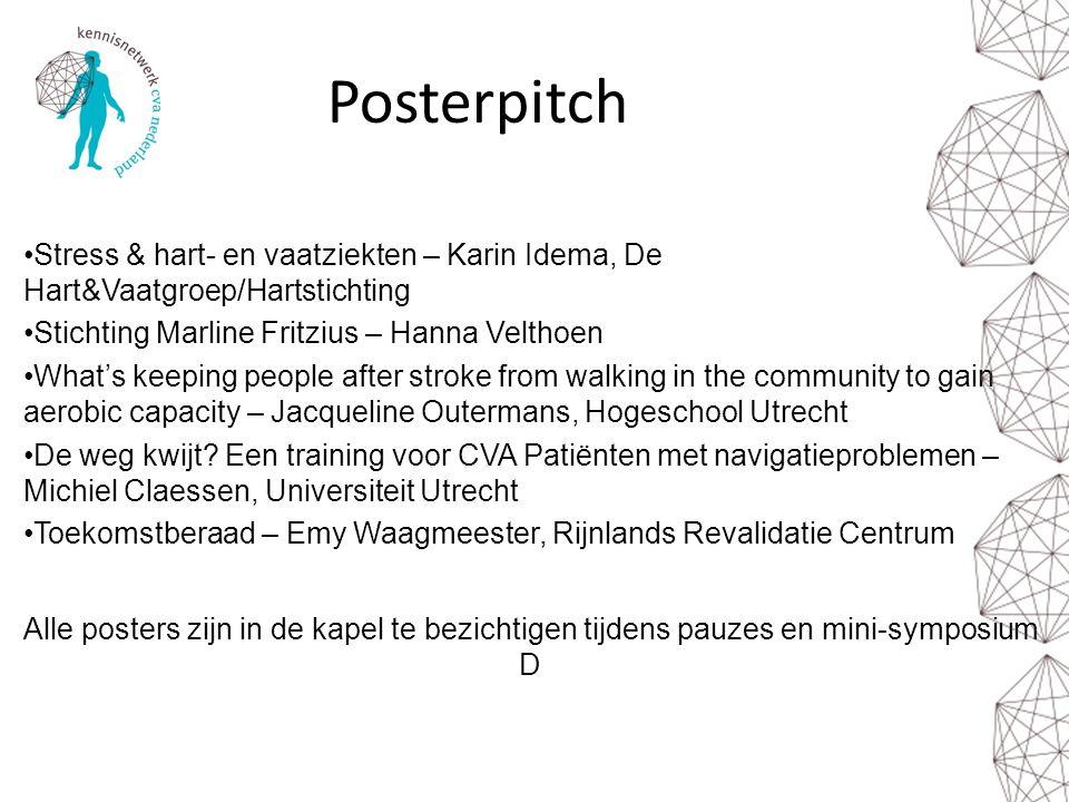 Posterpitch Stress & hart- en vaatziekten – Karin Idema, De Hart&Vaatgroep/Hartstichting Stichting Marline Fritzius – Hanna Velthoen What's keeping pe
