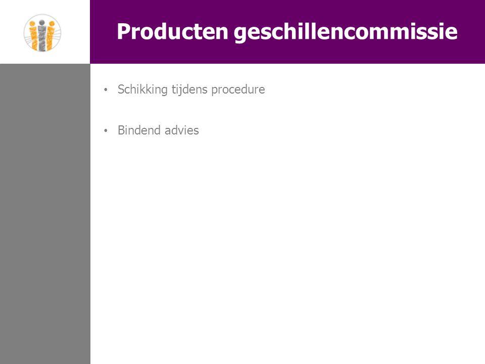 Producten geschillencommissie Schikking tijdens procedure Bindend advies