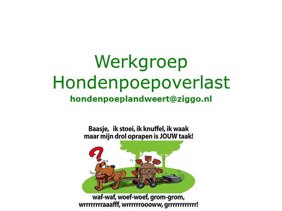 Werkgroep Hondenpoepoverlast hondenpoeplandweert@ziggo.nl