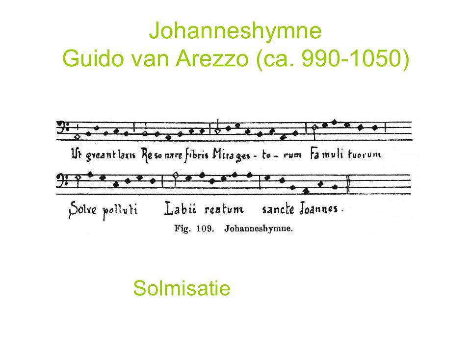 Johanneshymne Guido van Arezzo (ca. 990-1050) Solmisatie