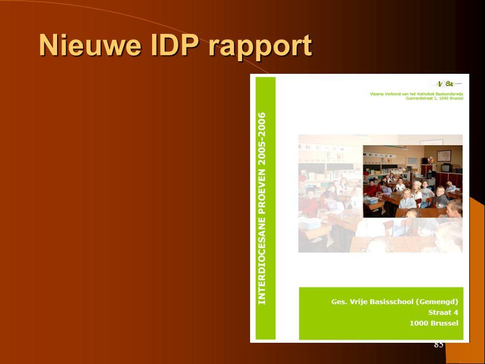 85 Nieuwe IDP rapport