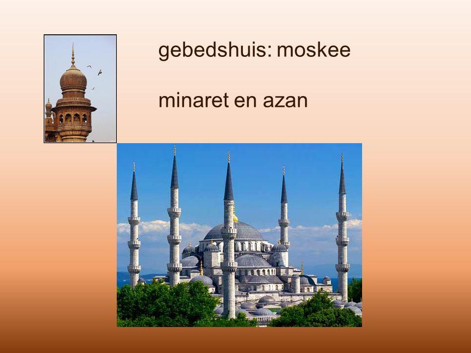 gebedshuis: moskee minaret en azan