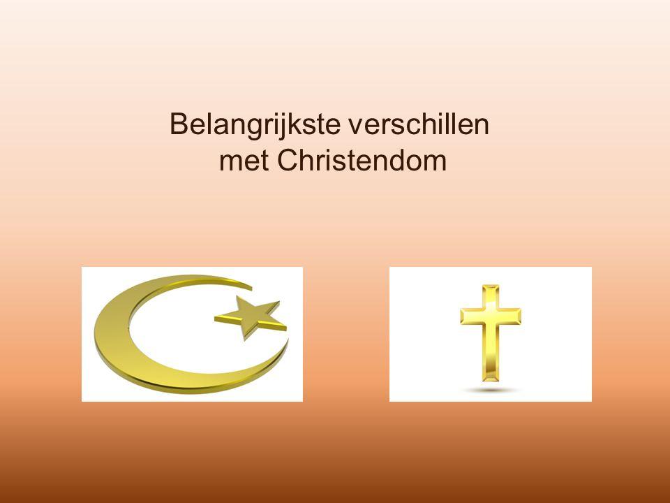 Belangrijkste verschillen met Christendom