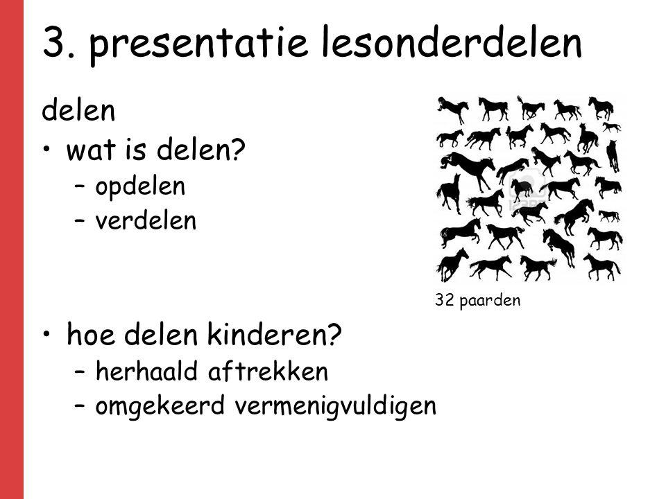 3.presentatie lesonderdelen delen wat is delen. –opdelen –verdelen hoe delen kinderen.