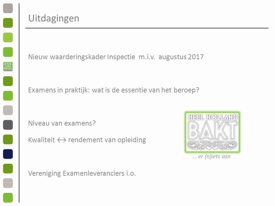 Uitdagingen Nieuw waarderingskader Inspectie m.i.v.