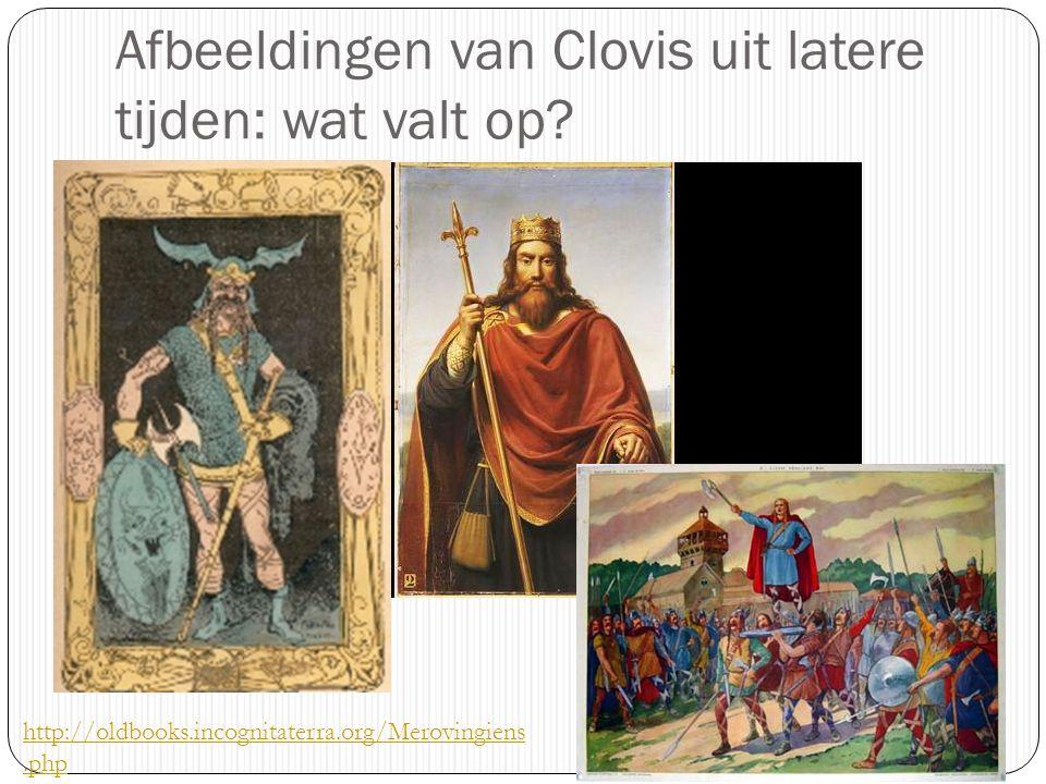 Afbeeldingen van Clovis uit latere tijden: wat valt op? http://oldbooks.incognitaterra.org/Merovingiens.php