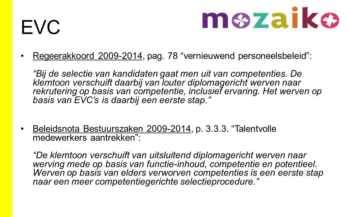 EVC Regeerakkoord 2014-2019, pag.
