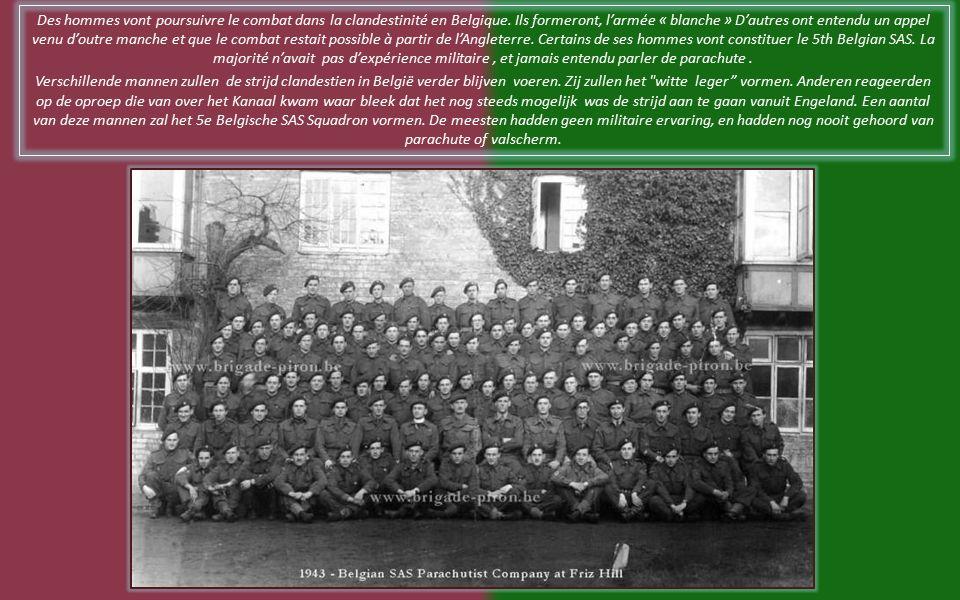 Unité SAS belge dans le SAS britannique. Belgische SAS-eenheid in de Britse SAS Brigade.