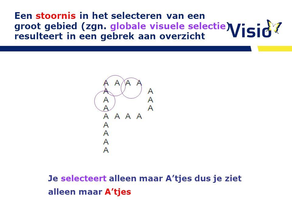 http:/www.oogheelkunde.org/richtlijnen/ visusstoornissen E-learning Je selecteert alleen maar A'tjes dus je ziet alleen maar A'tjes Een stoornis in he