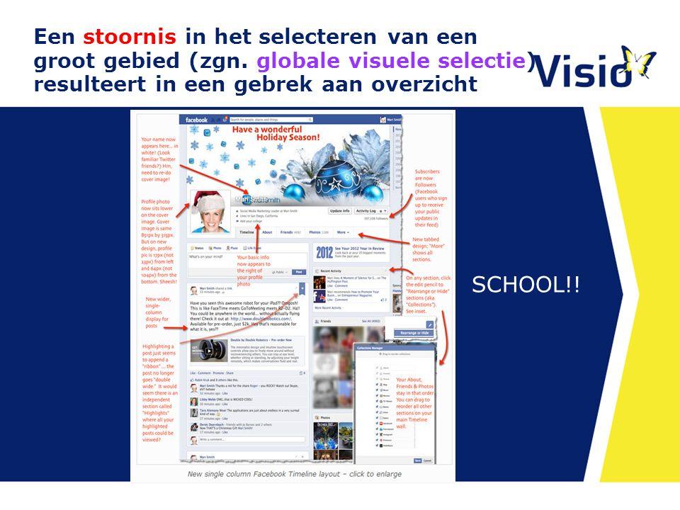 10 december 2015 Een stoornis in het selecteren van een groot gebied (zgn. globale visuele selectie) resulteert in een gebrek aan overzicht SCHOOL!!