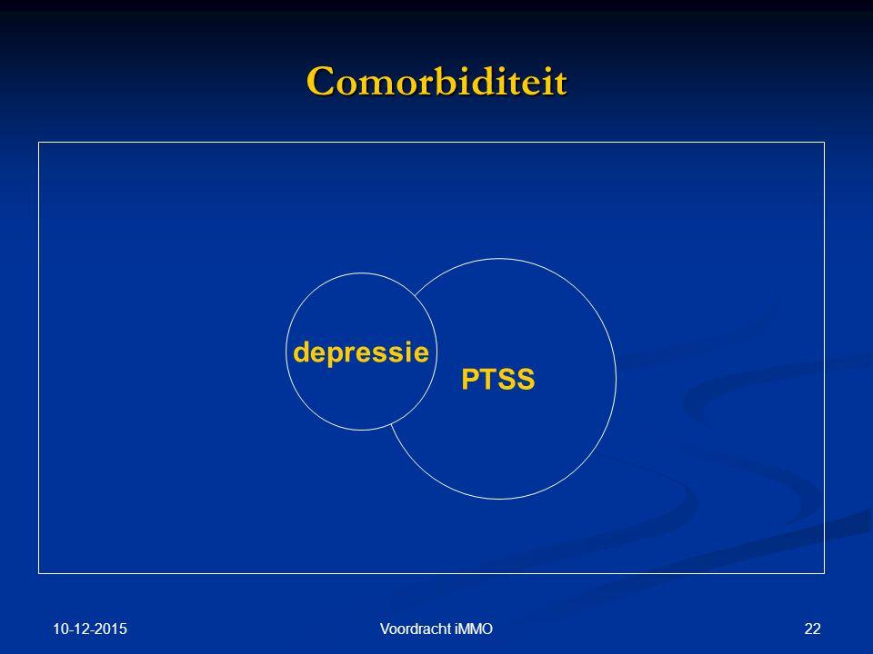 10-12-2015 22Voordracht iMMO Comorbiditeit PTSS depressie