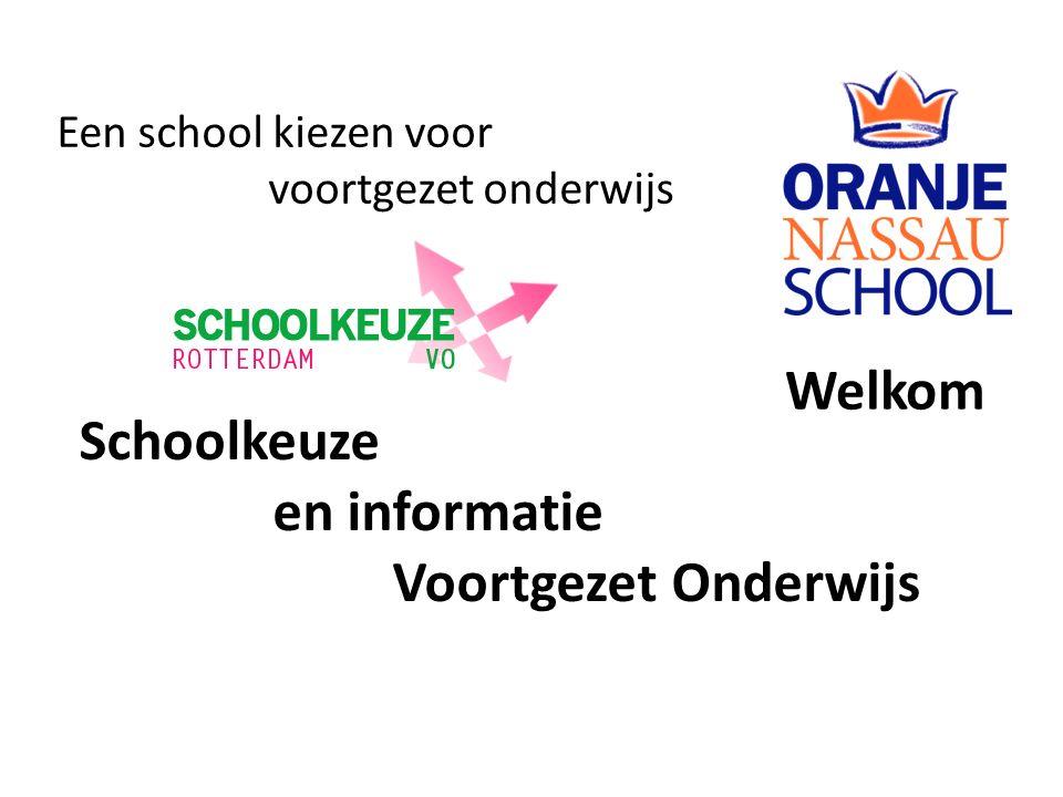 Schoolkeuze en informatie Voortgezet Onderwijs Een school kiezen voor voortgezet onderwijs Welkom