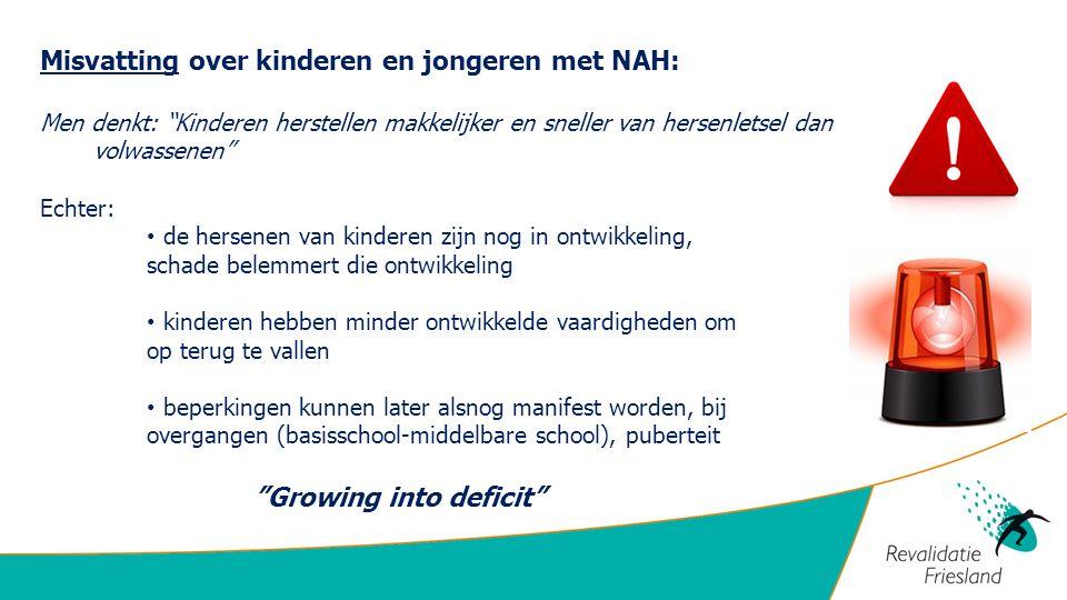 """Misvatting over kinderen en jongeren met NAH: Men denkt: """"Kinderen herstellen makkelijker en sneller van hersenletsel dan volwassenen"""" Echter: de hers"""