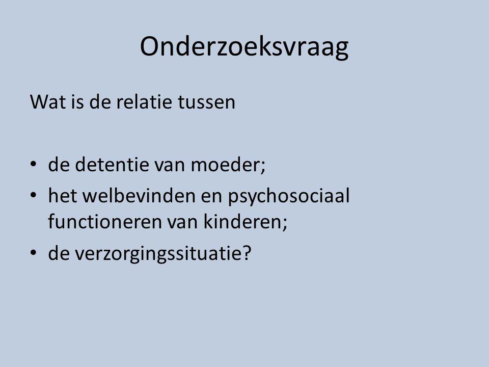 CIM-NL Studie Children of incarcerated mothers in the Netherlands Study Multidimensionele benadering: moeder, verzorger, kind (N=255 kinderen) … & Controlegroep