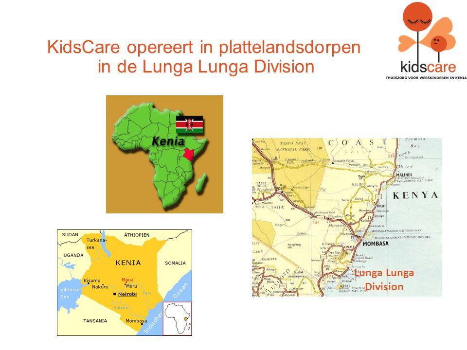 KidsCare opereert in plattelandsdorpen in de Lunga Lunga Division Lunga Lunga Division