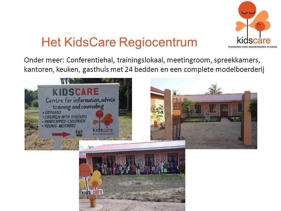 Het KidsCare Regiocentrum Onder meer: Conferentiehal, trainingslokaal, meetingroom, spreekkamers, kantoren, keuken, gasthuis met 24 bedden en een complete modelboerderij