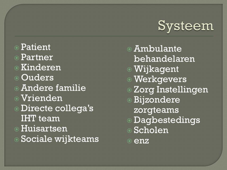  Informatie voorziening aan patiënt en systeem  Regievoering afhankelijk van waar de hoofdbehandeling ligt(goed afgestemd)  Snelle afstemming  Beschikbaarheid  Flexibiliteit.