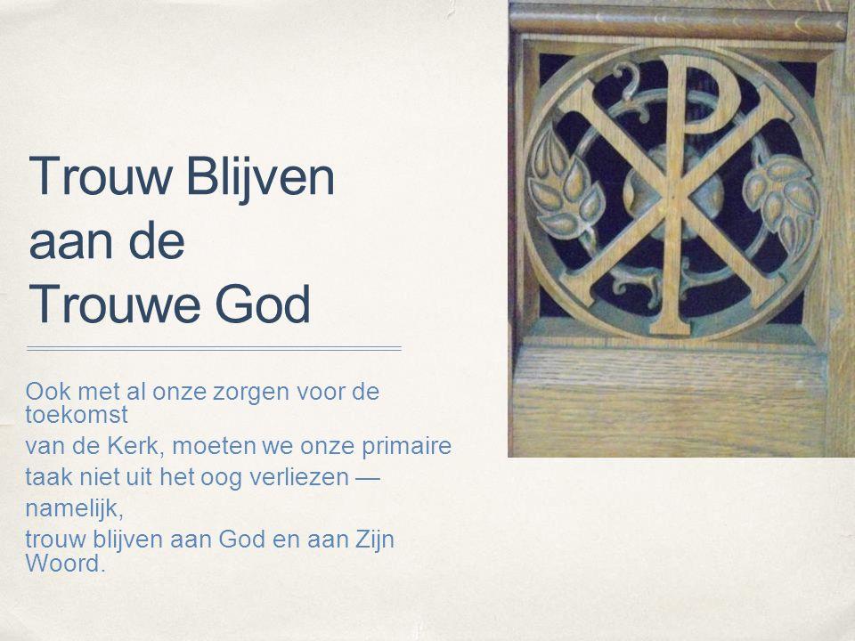 Gereformeerde Overleg Vlaanderen ✤ Wat is het GOV? ✤ Meer contact tussen GOV kerken en Classis - Axel?