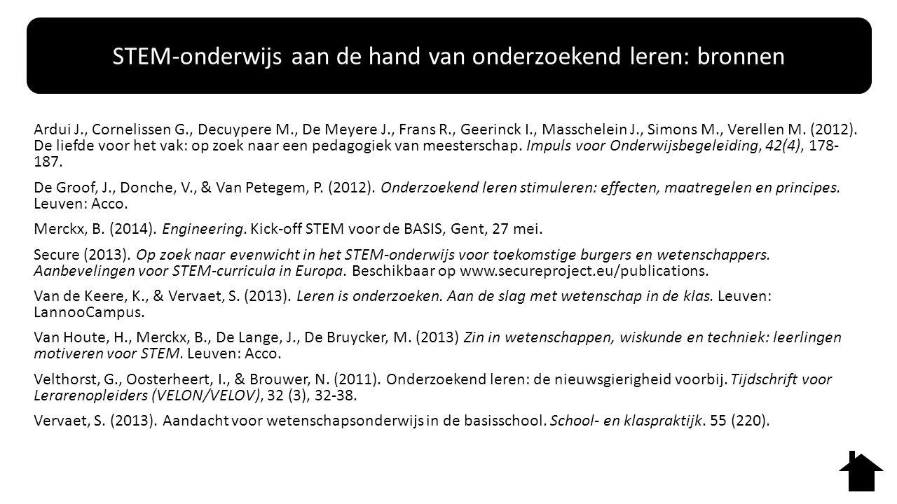 Ardui J., Cornelissen G., Decuypere M., De Meyere J., Frans R., Geerinck I., Masschelein J., Simons M., Verellen M. (2012). De liefde voor het vak: op