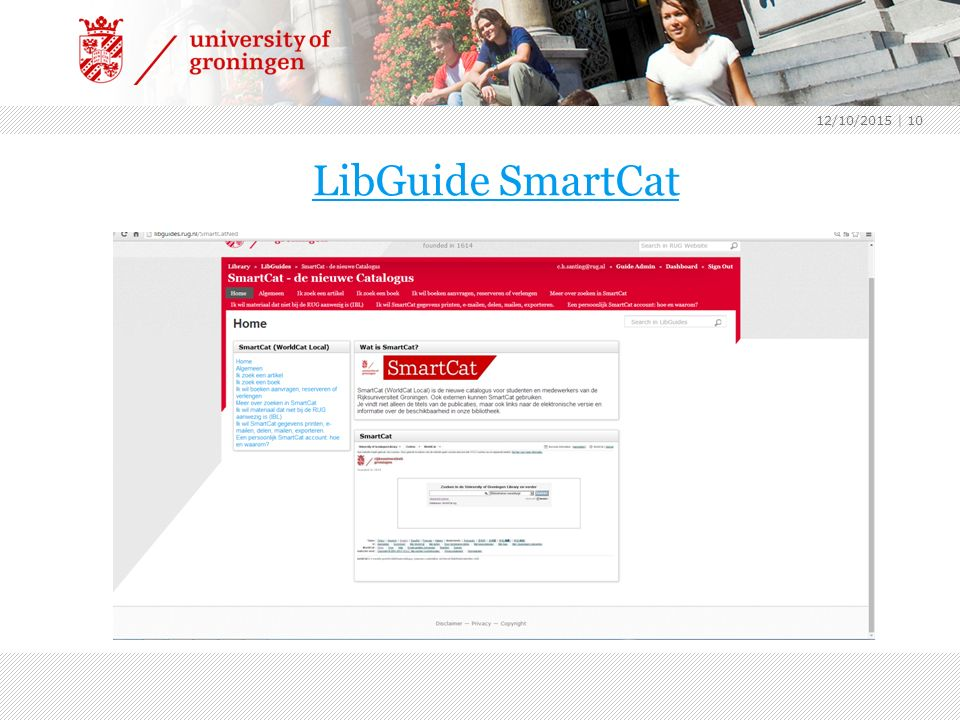 LibGuide SmartCat 12/10/2015 | 10