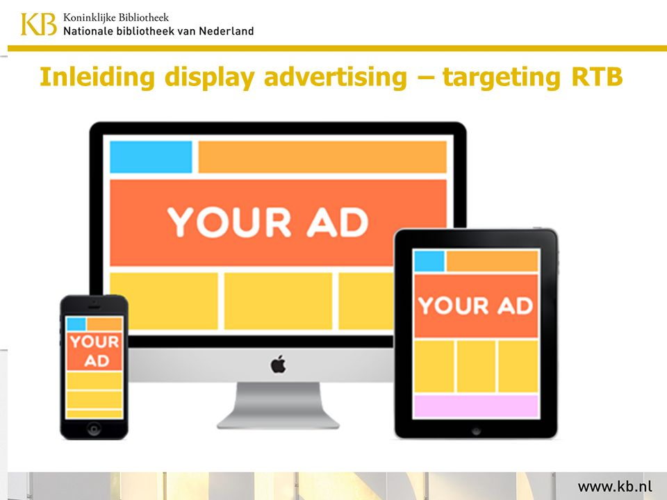 Inleiding display advertising – targeting RTB