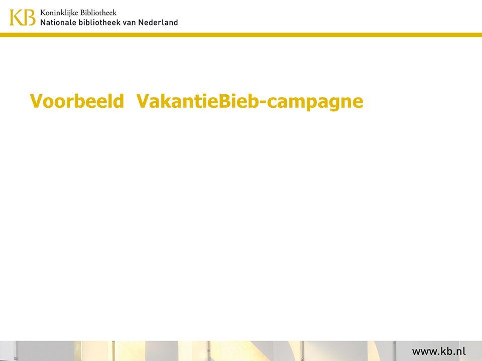 Voorbeeld VakantieBieb-campagne