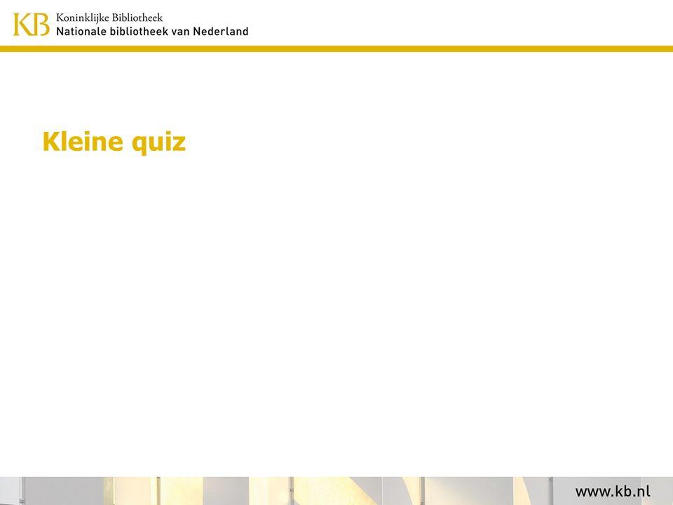 Kleine quiz