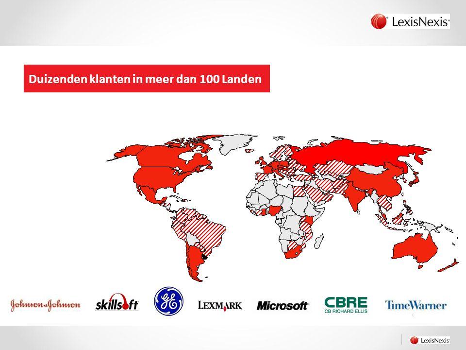 Duizenden klanten in meer dan 100 Landen