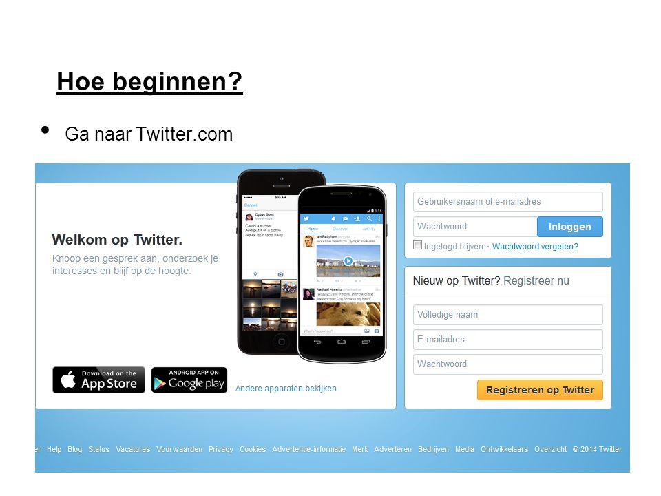 Hoe beginnen Ga naar Twitter.com
