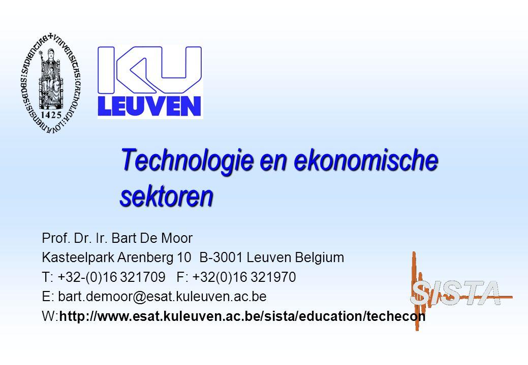 T: +32-(0)16-321709 W: http://www.esat.kuleuven.ac.be/sista 12 Enkele sleutelwoorden….