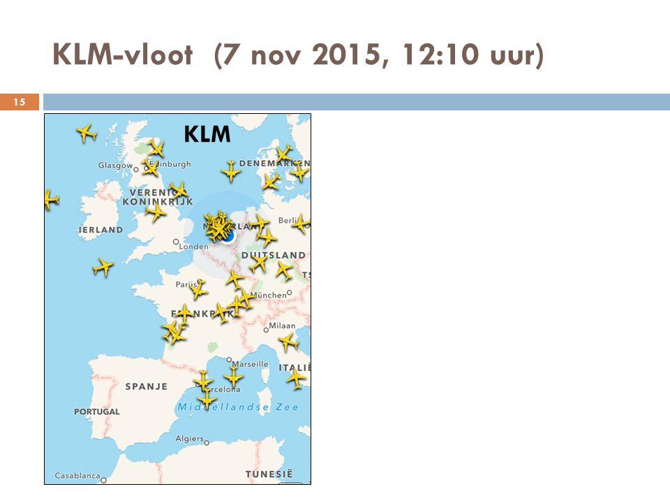 KLM-vloot (7 nov 2015, 12:10 uur) KLM 15