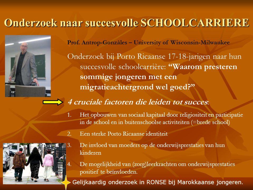 Onderzoek naar succesvolle SCHOOLCARRIERE Prof.