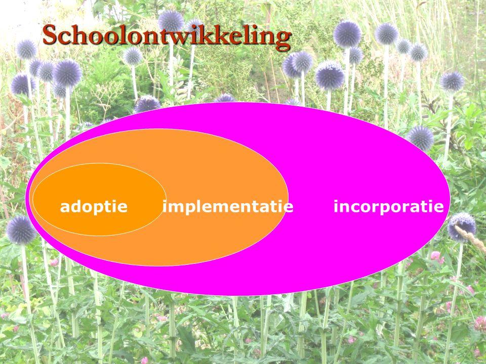 Schoolontwikkeling incorporatieimplementatieadoptie