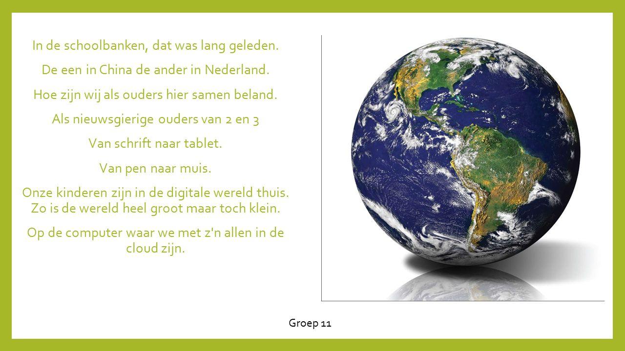 In de schoolbanken, dat was lang geleden.De een in China de ander in Nederland.