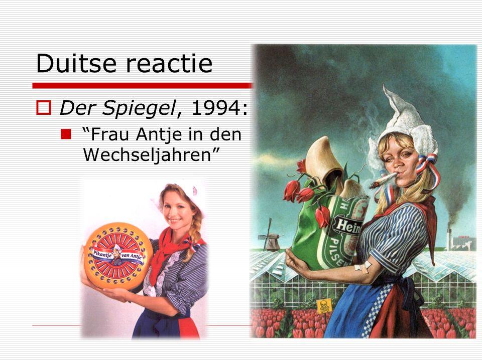 """Duitse reactie  Der Spiegel, 1994: """"Frau Antje in den Wechseljahren"""""""