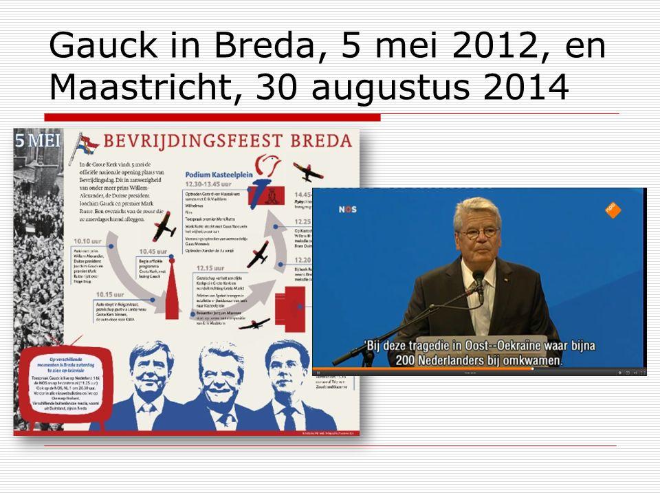 Gauck in Breda, 5 mei 2012, en Maastricht, 30 augustus 2014