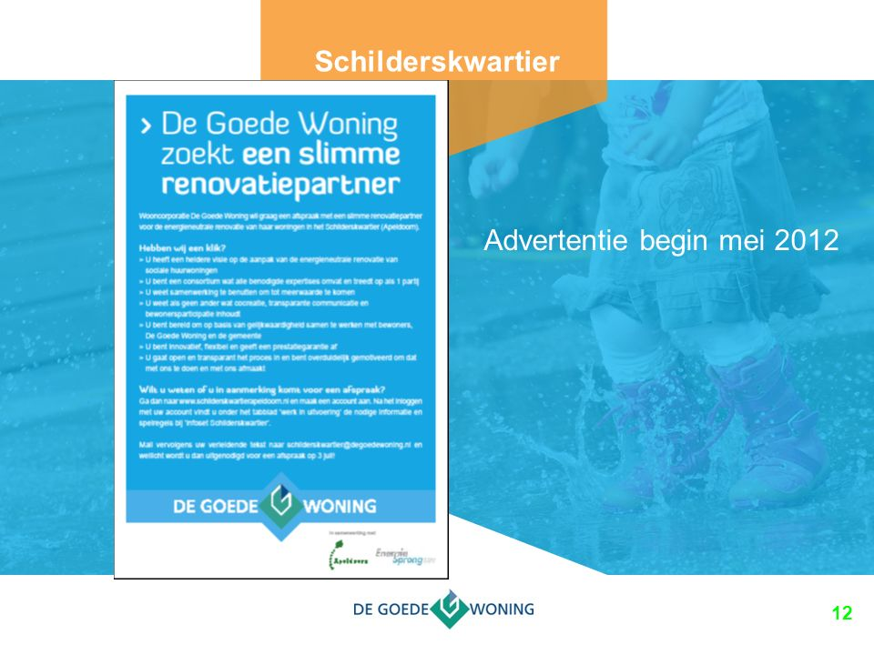 12 Schilderskwartier Advertentie begin mei 2012
