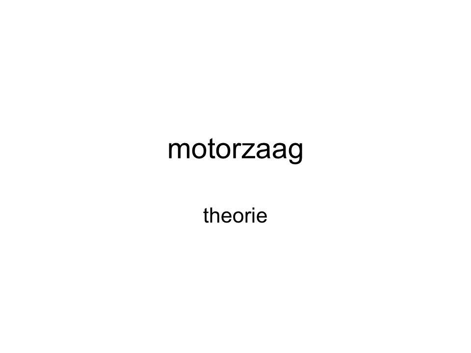 motorzaag theorie