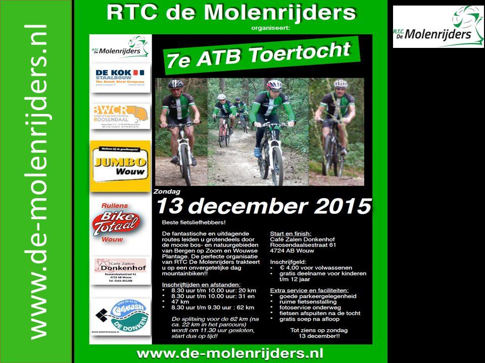 R.T.C.DE MOLENRIJDERS www.de-molenrijders.nl A. Hoe laat moet ik vertrekken .