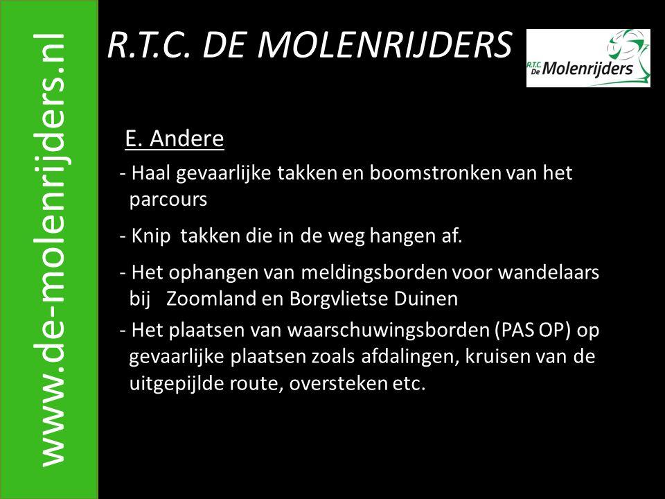 R.T.C.DE MOLENRIJDERS www.de-molenrijders.nl E.