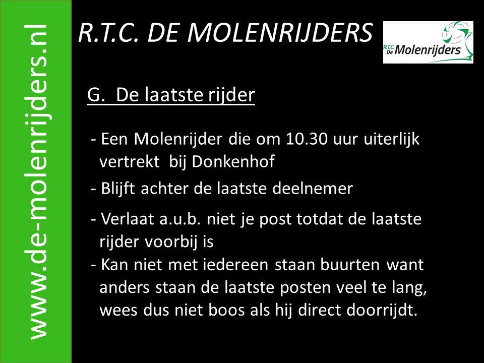 R.T.C.DE MOLENRIJDERS www.de-molenrijders.nl G.