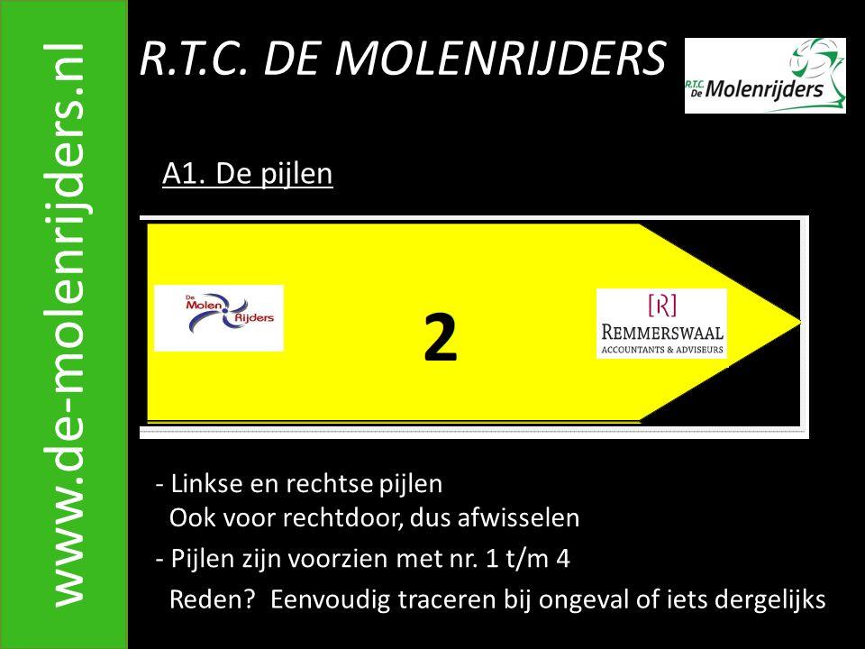 R.T.C.DE MOLENRIJDERS www.de-molenrijders.nl 5. Het ophalen van de pijlen op zondag B.