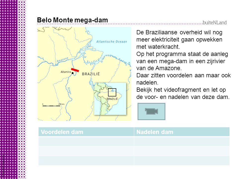 Belo Monte mega-dam De Braziliaanse overheid wil nog meer elektriciteit gaan opwekken met waterkracht. Op het programma staat de aanleg van een mega-d