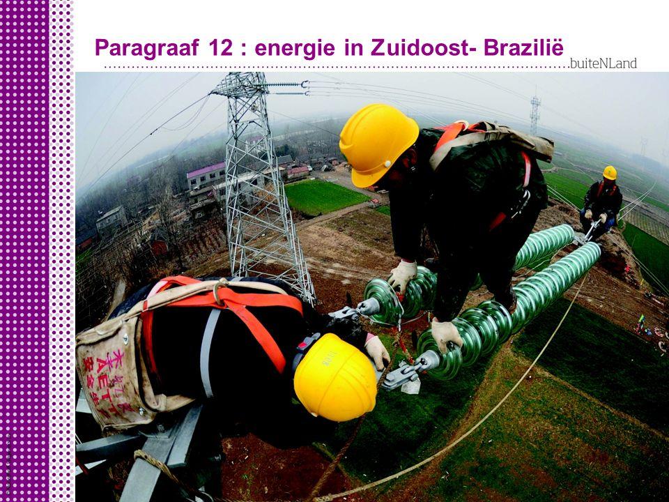 Paragraaf 12 : energie in Zuidoost- Brazilië